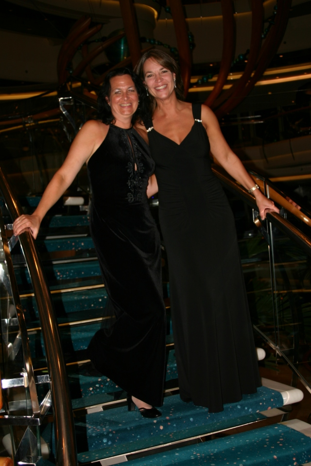 FD's Sissy Jo and me on a Western Caribbean cruise in 2005.