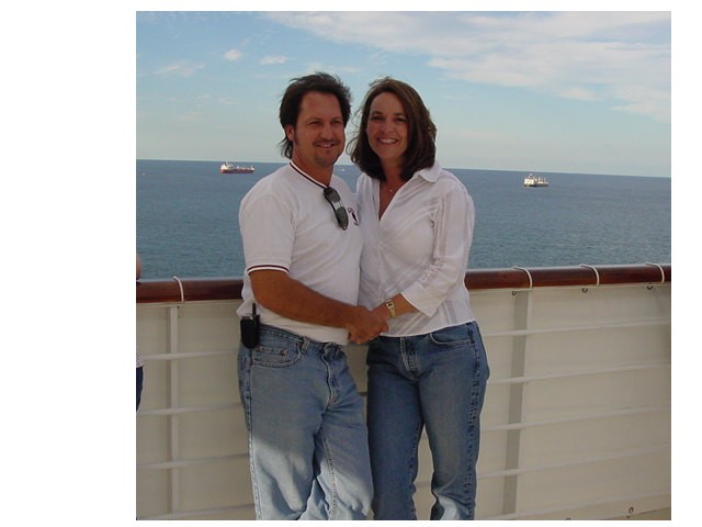 FD and I enjoying an Eastern Caribbean cruise to  the US Virgin Islands and the French West Indies.