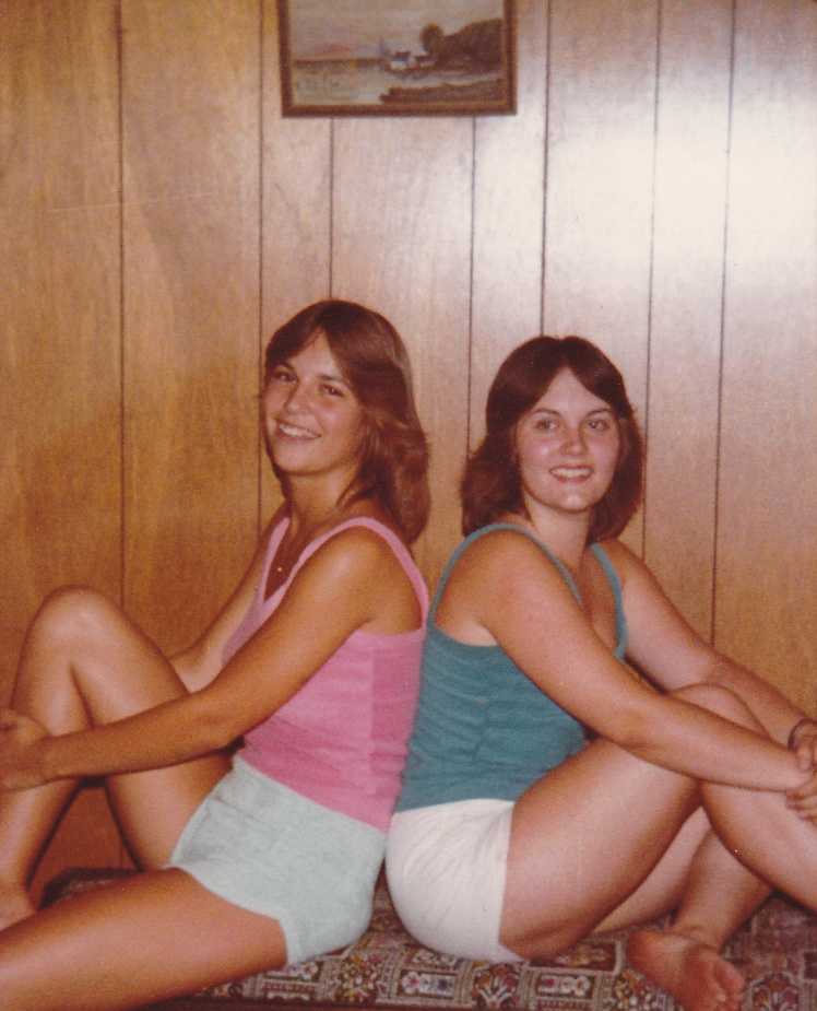 Me and my friend Sharilyn, in my apartment back in 1979.