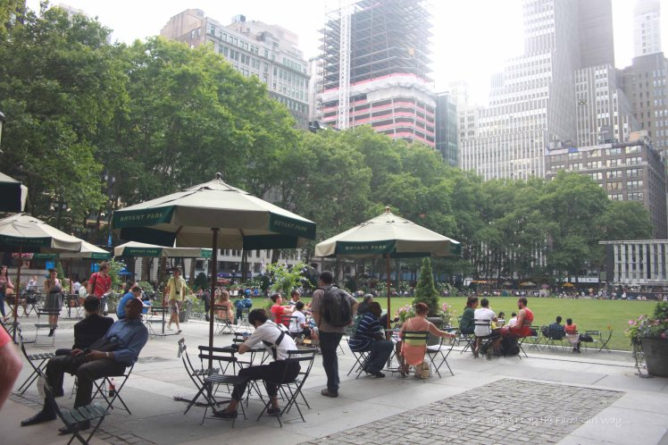Bryant Park was not far from our hotel, and it was a spot we would pass by many times as we walked the streets of Times Square.