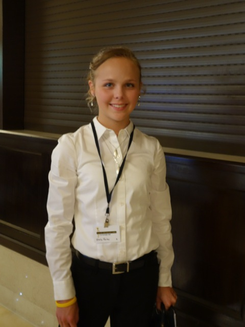 Emily poses for a photo before heading off to the performance.