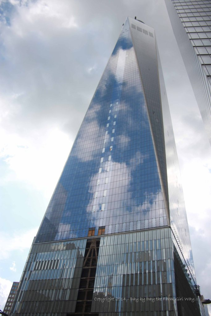 The stunning One World Trade Center towered high above all other skyscrapers in Manhattan.