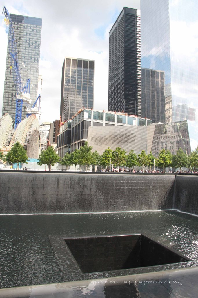 The area of the 9/11 Memorial Park is still being rebuilt and repaired. While the noise of construction clamored away, hundreds of people stood somberly in respect of those who lost their lives.