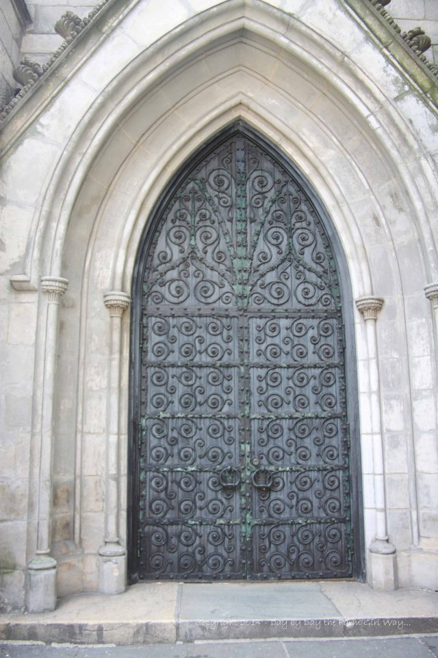 These mammoth doors at Grace Church were very unusual in comparison with other cathedrals in the area.