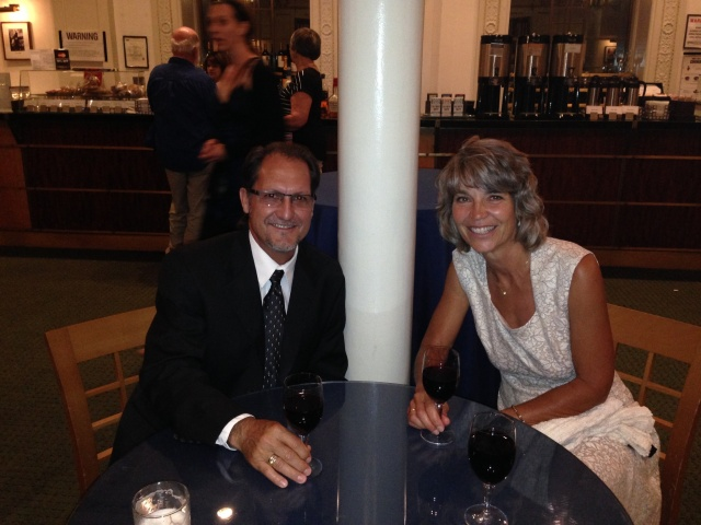 FD and I enjoy a Cabernet at the Citi Cafe inside Carnegie Hall.