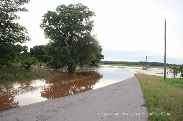 As we pulled up on this closed road, we noticed three boys attempting to fish in the flooded river water.