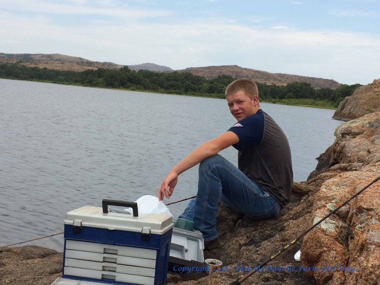 This was the only image I got Sid to look my way. He was pretty serious about fishing the entire day we spent at the lakes of the Wichita Mountain's Wildlife Refuge.