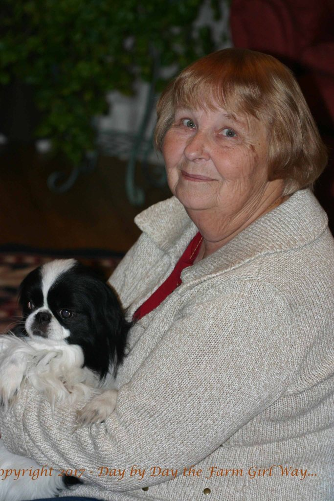 My mom has always been good to all of her granddogs. My siblings and I have often counted on her to dog-sit when we needed a little help. Bear never turned down being held and massaged.